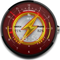 FLASH – Watch Face Android Free Download - http://androidsnack.mobi/flash-watch-face/