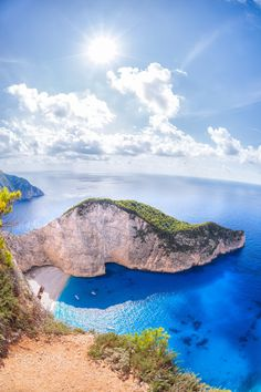 Navagio beach with shipwreck on Zakynthos island in Greece - Navagio beach with shipwreck on Zakynthos island in Greece