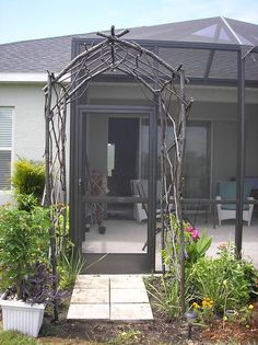 Imagine being able to design and create your own wedding arbor! We create your rustic steel arbor to your design and specifications. Imagine being able to bring this piece home with you to place in your backyard for years to come and pass down to future generations! Check us out www.comanchefire.com for a complete list of rustic pieces!