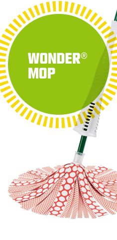 Microfiber gripstrips lift up to 20% more dirt leaving your floors cleaner. The power wringer removes more water from the mop head allowing your floors to dry faster so you can be back on them sooner. Works great on all surfaces and can be machine washed up to 50 times.