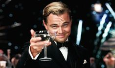 """""""It's our instinct to chase what's getting away, and to run away from what's chasing us."""" - Leonardo DiCaprio as Jay Gatsby in The Great Gatsby Jay Gatsby, O Grande Gatsby, Gatsby Movie, Gatsby Party, 1920s Party, 1920s Wedding, Party Wedding, Wedding Ideas, Gym Memes"""