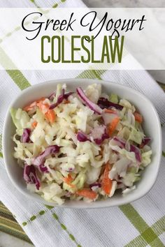 The perfect middle ground between creamy coleslaw and tangy vinegar slaw, this much healthier version is delicious with barbecue and a super-easy make-ahead!