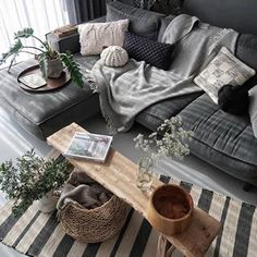 modern living room design ideas - Wohnraum gestalten - Home Sweet Home Living Room Grey, Living Room Modern, Interior Design Living Room, Home And Living, Living Room Designs, Modern Interior, Grey Interior Design, Cozy Living, Modern Decor