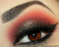 Black, gold, and red eye makeup by Stacey R. on Makeup Geek