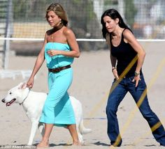 A dog's life! Jennifer Aniston has reportedly been giving her pooch Dolly [pictured with Courteney Cox in 2007] anti-ageing Kangen water