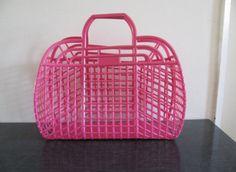 pink plastic basket purse vintage by goodkisser on Etsy Retro Vintage, Vintage Toys, 90s Childhood, Childhood Memories, Nostalgia, Jelly Bag, Plastic Baskets, Womens Summer Shoes, Latest Shoe Trends
