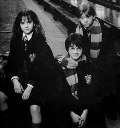 Hermione Granger (Emma Watson), Harry Potter (Daniel Radcliffe) & Ron Weasley (Rupert Grint) - Harry Potter
