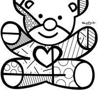 Desenho De Romero Britto Ursinho Para Colorir Romero Britto