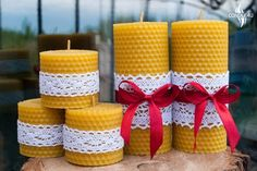 Beeswax Candles, Pillar Candles, Homemade Candles, Buisness, Candle Making, Master Class, Honey, Shapes, How To Make