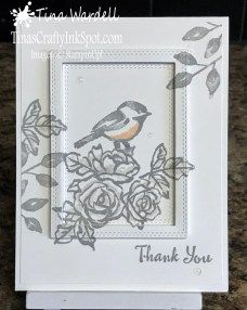 Petal Palette Thank You. Simple cards easy with this universal stamp set with matching dies.