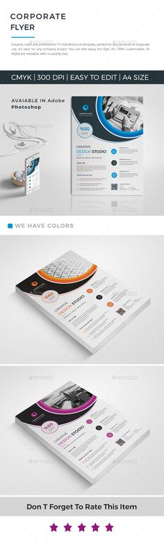 Buy Event / Conference by DIA-Design on GraphicRiver. This layout is suitable for any project purpose. Flyer Size, Flyer Layout, Circle Logos, Business Flyer Templates, Corporate Brochure, Psd Templates, Flyer Design, Color Change, Creative Design