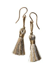 DIY Tassel Earrings ~~These earrings won't be found in the mall. That's because you create them -- in five minutes.