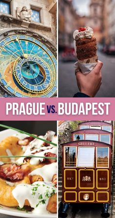 Prague vs Budapest - where should you travel next? This breakdown of what they're best known for and how to visit them will help you choose between the two. | Prague or Budapest for Vacation | Should I Go to Prague or Budapest | Prague and Budapest Comparison | Budapest vs Prague | Budapest or Prague | Budapest and Prague Comparison Places In Europe, Europe Destinations, Europe Travel Guide, Travel Guides, Romantic Paris, Europe Bucket List, Countries To Visit, European Travel, Budapest