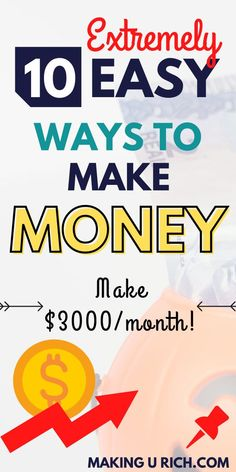 CHECK OUT 10 extremely easy ways to make money working from home. PIN IT!!! Make Money Fast, Ways To Save Money, How To Get Money, Make Money From Home, Money Tips, Earn Money Online, Online Jobs, Making Extra Cash, Financial Tips