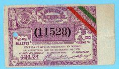 1927 Old MEXICO LOTTERY TICKET / Loteria Nacional 500.000 Pesos