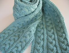 Free Pattern: Braid Cable Reversible Hiking Scarf by Jeanna Quinones