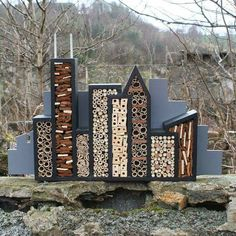 Insect Hotel via 1001gardens.org Shared from Green Rehab, FB.