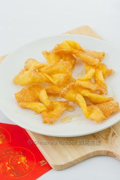 Cheat's Sweet Egg Twists (Chinese New Year Snack) from Christine's Recipes