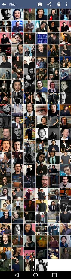 Who else has a camera roll like this!! Own up!!! #montage #collage #adamdrivermontage #adamdrivercollage #adamdriver