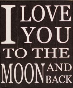 'Moon and Back' Wall Sign