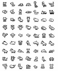 So cute tiny animals easy drawings, doodle drawings, tattoo drawings, doodle art, Mini Drawings, Doodle Drawings, Easy Drawings, Doodle Art, Tattoo Drawings, Simple Animal Drawings, Doodle Icon, Mini Tattoos, Cute Tattoos