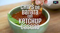 Chips de Batata con Ketchup casero