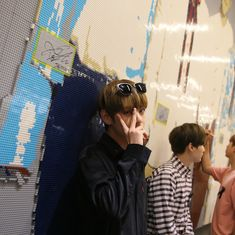 Image may contain: one or more people Kim Taehyung, Bts Jungkook, Namjoon, Hipster, K Idol, The Villain, First Love, My Love, Boyfriend Material