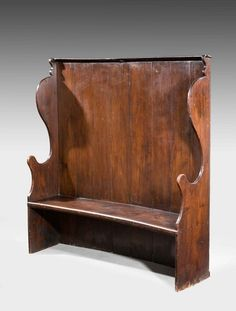George III Period Stained Pine Settle (Ref No. 6229) - Windsor House Antiques