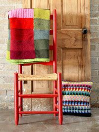Recycle Sweaters: Make a Throw or Pillow.