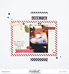 2015 Dezember Projekt Life Kit - Scrapbook Werkstatt - Layout von Katja Müller