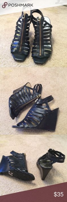 Jessica Simpson caged wedge Jessie Simpson caged wedge worn once Jessica Simpson Shoes Wedges