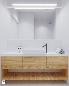 W: - 081 architekci Interior Inspiration, Design Inspiration, Double Vanity, Bathtub, Kitchen Cabinets, Interior Design, Deco, House, Bathrooms