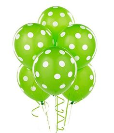 "LIME GREEN & WHITE POLKA DOT Premium Quality Qualatex 11""... https://www.amazon.com/dp/B009SPT9HI/ref=cm_sw_r_pi_dp_x_HMN5ybZ9DCK9C"