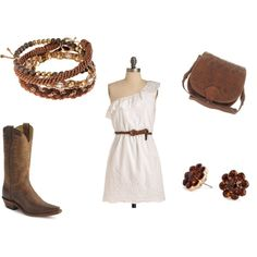 COUNTRY GIRL CUTE! So cute, but not sure if I could Rick the boots. :-}