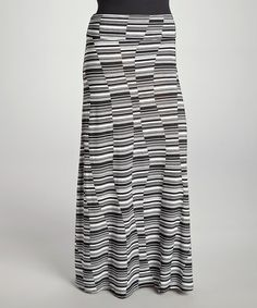 This Black & White Rectangle Maxi Skirt - Plus by CANARI is perfect! #zulilyfinds