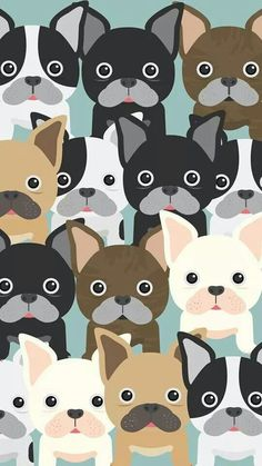 Doggies pattern background. Tap to see more cute and beautiful iPhone wallpapers! - @mobile9