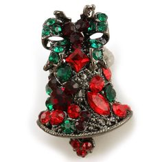 Vintage Design Christmas Bow Bell Brooch Pin Multicolor Rhinestone Crystals Christmas Jewelry Soulbreezecollection http://www.amazon.com/dp/B00898JHO0/ref=cm_sw_r_pi_dp_Tr3jub0P4X6GV