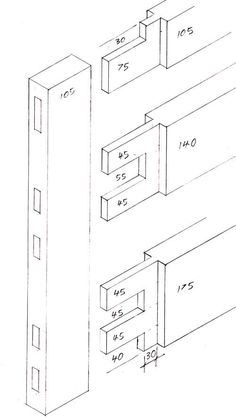 Joints for a timber door