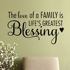 Features: -Title: The love of a family is lifes greatest blessing. -Color: Black. -Made in the USA. Product Type: -Wall decal. Theme: -Words/Quotes/Letters/Numbers. Color: -Black. Compatible Su