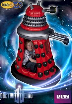 Doctor Who Ride-In Inflatable Dalek - Scificollector -Creators of the Torchwood Figures & Exclusive Doctor Who Merchandise