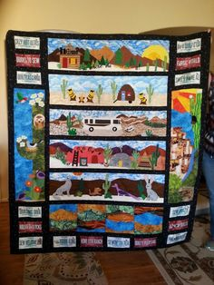 Arizona Row by Row 2016 Quilting Projects, Quilting Designs, Sewing Projects, Projects To Try, Quilting Ideas, Panel Quilts, Quilt Blocks, Row By Row 2016, Southwestern Quilts