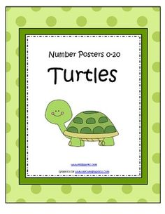 Turtles Theme Number Posters