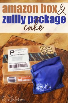 Amazon Box & Zulily Package Cake. This fondant covered cake was 100% edible with loads of details to make it realistic. #amazonboxcake #zulilycake #boxcake