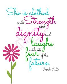 Proverbs 31:25 printable