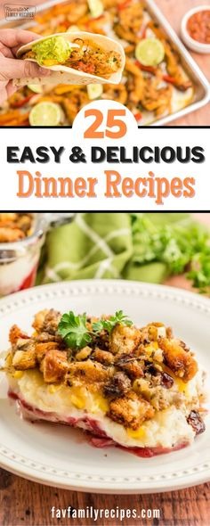 This list of dinner ideas consists of simple to follow recipes with easy to find ingredients. In addition, they are all quick to prepare whether you are preparing it for the crock pot earlier in the day, or just before dinnertime. Thanksgiving Dinner Menu, Holiday Dinner, Easy Family Meals, Family Recipes, Easy Meals, Beef Recipes For Dinner, Brunch Recipes, Healthy Weeknight Meals, Homemade Soup