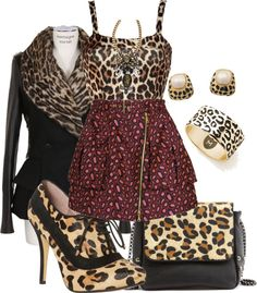 """""""Leopard prints outfit."""" by leadoremi ❤ liked on Polyvore"""