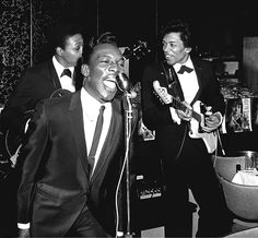Jimi Hendrix before he formed his own group, shown here playing for Mr. Wilson Pickett in 1966.