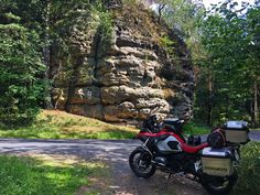 Along small roads in Bohemian Switzerland National Park Motorcycle Adventure, Ride Along, Traffic Light, My Land, Roads, Switzerland, Norway, Countryside, National Parks