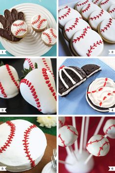 Baseball Desserts, I know a special little boy that is going to get some of these treats on his birthday!!!
