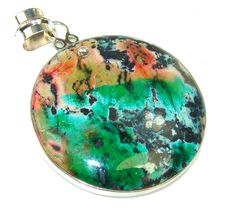 Excellent Sea Sediment Jasper Sterling Silver Pendant - 17.70g | $49.99 best price at Silver Rush Style!